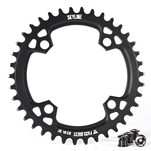 PASS QUEST 104BCD MTB Narrow Wide Chainring/Chain Ring 32T-40T Bike Bicycle Chainwheel/Chain Wheel deore Crankset (38T, 70)