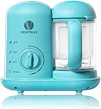 Ventray BabyGrow 100 Baby Food Maker, All-In-one Baby Food Processor, Blender, Steamer, Chop, Puree, Easy Clean, Organic, Cook At Home,Blue