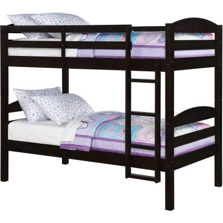 Better Homes and Gardens Leighton Twin Over Twin Wood Bunk Bed, Espresso