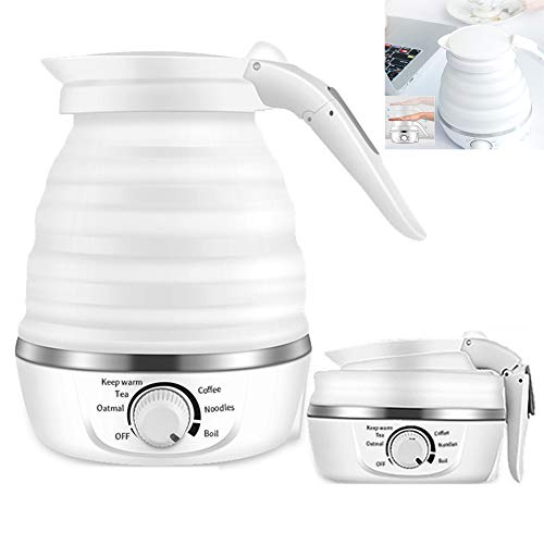 D&D Mini Collapsible Electric Travel Kettle 0.6L Foldable Portable Kettle with Temperature Control Separable Power Cord...