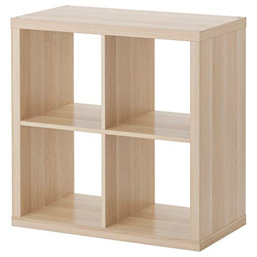 Ikea KALLAX Libreria Scaffale, Effetto Rovere con Mordente Bianco 77x77 cm