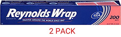 Lowest Price! Reynolds Wrap Aluminum Foil (200 Square Foot Roll) (2 Packs(200 Sq ft))