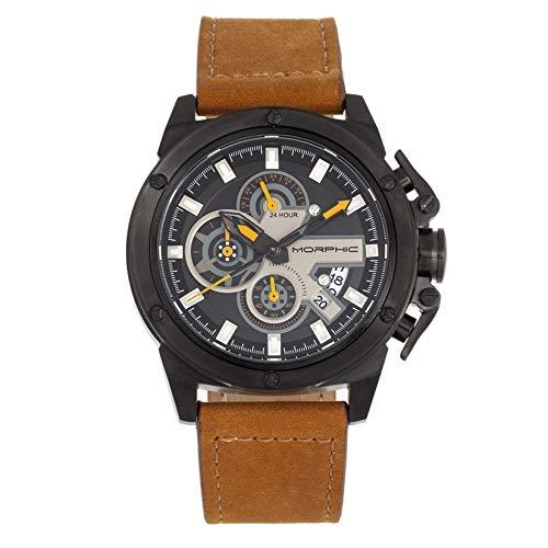 Morphic M81 Series Chronograph Lederband Uhr mit Datum Camel/Black/Silver SKU: MPH8106