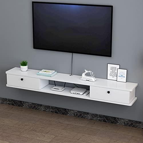 Estante flotante Soporte de TV montado en la pared Gabinete Centro de consola de medios Estante de almacenamiento grande Caja decodificadora Unidad de entretenimiento del gabinete del estante