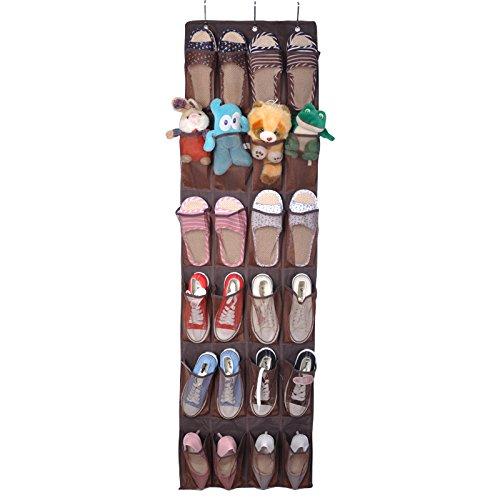 Wiiguda@ Almacenamiento de Calzado Colgante detrás de la Puerta, colección de Zapatos Almacenamiento de Bolsa Organizador/Calzado para Guardar Zapatos y Otros Accesorios pequeños, Negro.
