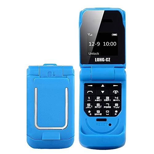 Teléfonos móviles desbloqueados y sin SIM Largo CZ J9 Mini Estilo del tirón del teléfono móvil, 0,66 Pulgadas, 18 Teclas, Ayuda Bluetooth, FM, SOS, Anti-perdido, mágico Sonido, etc. (Color : Blue)