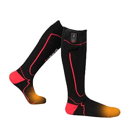AUED Beheizbare Socken, Angreifen Smart Heating Socken Heizung warme Socken Unisex elektrisch beheizt Socken warme Füße Schatz, Winter im Freien Ski Jagd Camping,XL
