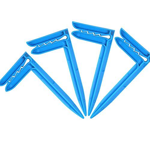 XINGSUI 4 pinzas de playa, utilizadas para arreglar la tienda, aptas para usar en la playa, viajar, acampar o hacer un picnic, para evitar que la toalla se vuele (azul)