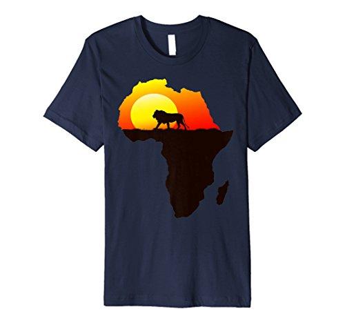 Majestätischer Löwe schlendert in die Sonne Afrika Silhouett