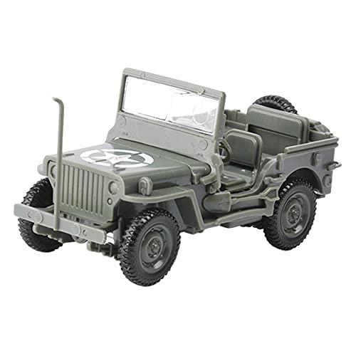 freneci 1:48 Modelo de vehículo Vintage Juguetes Segunda Mundial 4D ensamblaje Coche Modelo estático para Hacer escenas - Green