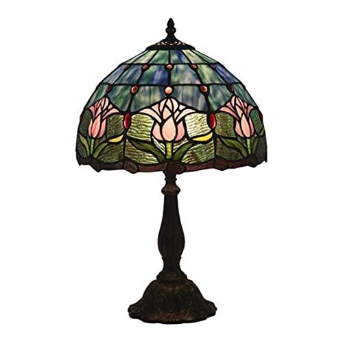 N/Z Living Equipment YdDesk Lamp, lámpara de Mesa de Vidrio con diseño de tulipán de 12 Pulgadas, luz de Mesa de Arte de Restaurante de cabecera de Dormitorio Creativo Retro