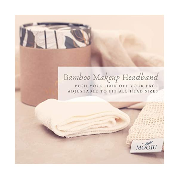 Mooju Reusable Makeup Remover Pads | 21 Luxuriously Soft Washable Cotton Face Pads in 3 Sizes with Laundry Bag, Bamboo… 1
