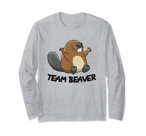 Funny Beaver Squad Team Beaver Manga Larga