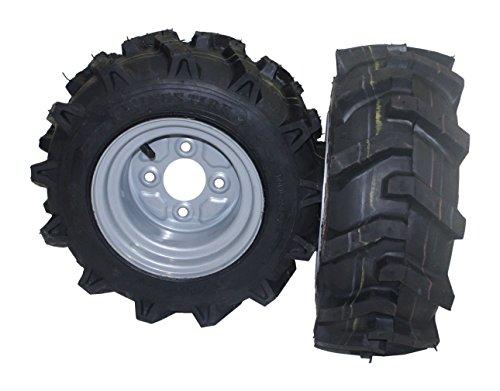 Bricoferr PT40326P Juego de ruedas agrícolas para derecha y izquierda (16 x 6.50-8, aperos de motoazada)