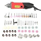 Kit di utensili rotanti 110-230 V, mini smerigliatrice elettrica 240 W Mini trapano design per la dissipazione del calore per il taglio e la lucidatura della foratura(Norma europea 220V, Traduzione)