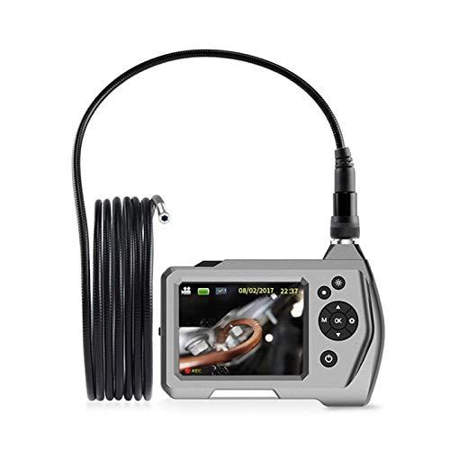 Dfghbn Endoscopio Industrial Cámara De Boroscopio HD 3.5 Pulgadas con Luz LED Semi-rígida De Tubería Flexible Recargable 2600mAh Batería (Color : Gris, Size : 3.0m)