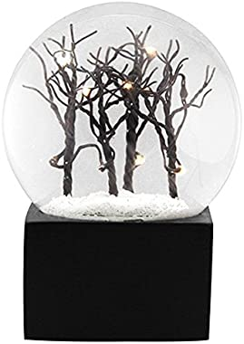 """Ebros Snowy Christmas Barren Winter Trees LED Light Up Glitter Water Globe Collectible Figurine 5.25"""" Tall"""