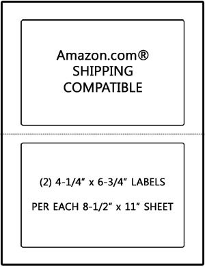 100 Sheets 4.25 X 6.75 Stamps.COM Amazon SDC-1200 Compatible Shipping Labels