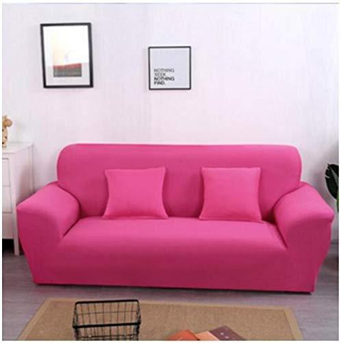 Forro de Sofá Doméstico,Funda de sofá elástica de color sólido, funda de sofá antideslizante universal de cuatro estaciones, funda de cojín de sofá a prueba de polvo de muebles de color sólido-Red_23