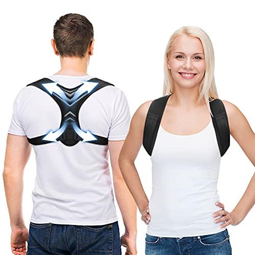 ZXRX Haltungskorrektur für Männer und Frauen, Rücken Geradehalter, Verstellbare Haltungskorrektur Rückenstütze, Wirksam Bei Nacken, Rücken und Schulterschmerzen (Unisex)