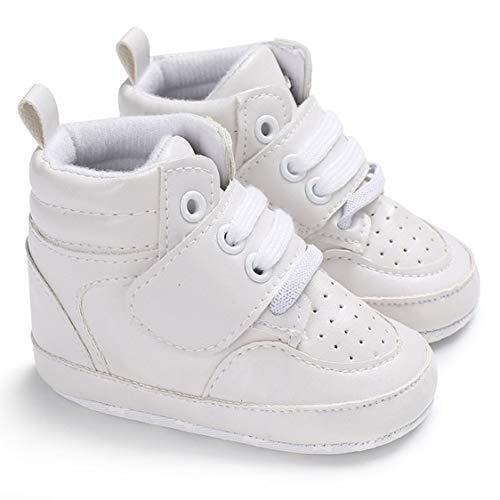 Zapatillas deportivas clásicas Bebé recién nacido Infantes Andadores Zapatos Productos de cuidado infantil de alta calidad - Blanco