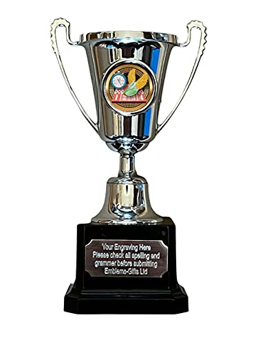 Emblems-Gifts Sprint Track Running Silver Moment Cup Award Trophy (C) GRATIS