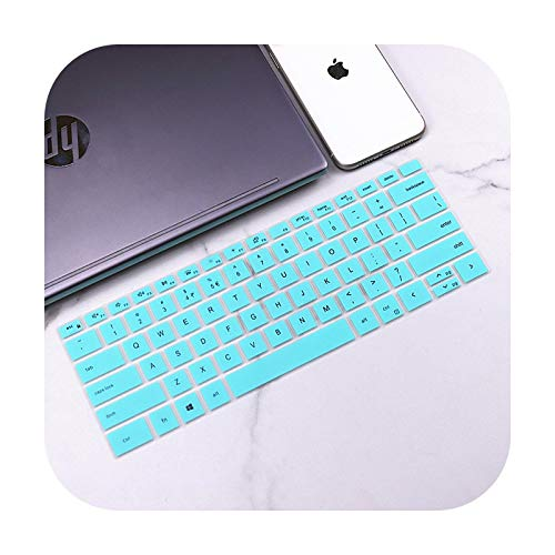 for New 2020 Dell XPS 15 9500 2-in-1 15.6' XPS 15-9500 / XPS 17 9700 XPS17 Silicone Keyboard Cover Skin Notebook Laptop -whiteblue