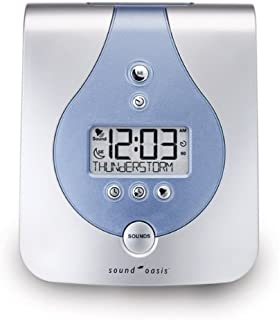 Sound Oasis Sleep Sound Therapy System S-650-02 -Tinnitus Relief 36 Sounds Clock