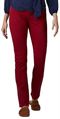 LEE Women\'s Secretly Shapes Regular Fit Straight Leg Jean (Red Dahlia, 6 Medium)