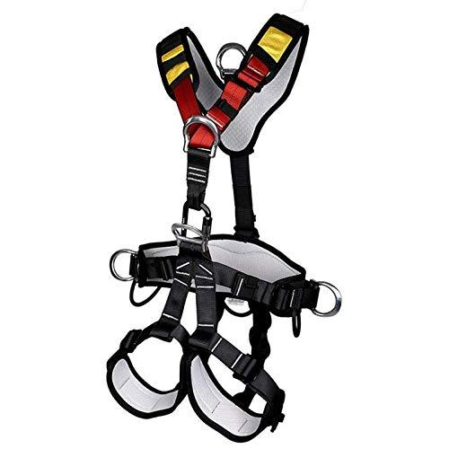 HKD Mehrzweck Klettergurt, Absturzsicherung Auffanggurt für Outdoor, Sitzgurt zum Klettern mit verstellbaren für Bergsteigen Baumklettern
