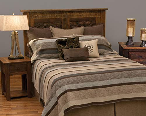 Great Features Of Wooded River Sandstone Handmade Bedding - Bedspread Only - King