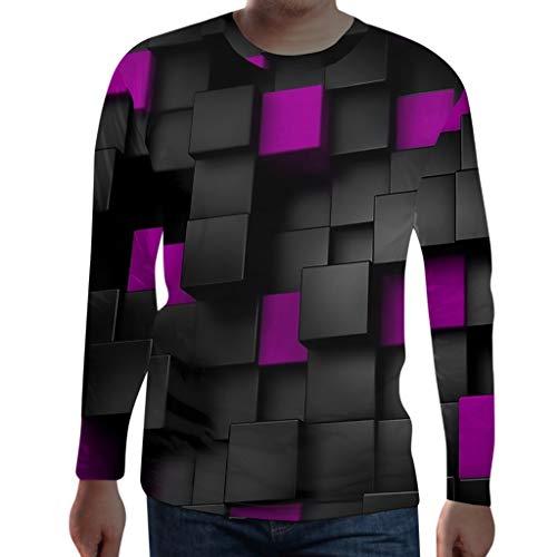 Sylar Camisetas De Manga Larga para Hombre, Camisetas Hombre 3D Impresión Camisetas De Hombre Cuello Redondo Casual Sudadera Hombre Sin Capucha Sudaderas Estampadas Hombre Camiseta Tops Otoño