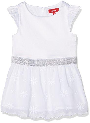 s.Oliver Baby-Mädchen 59.805.82.2815 Kleid, Weiß (White 0100), 80
