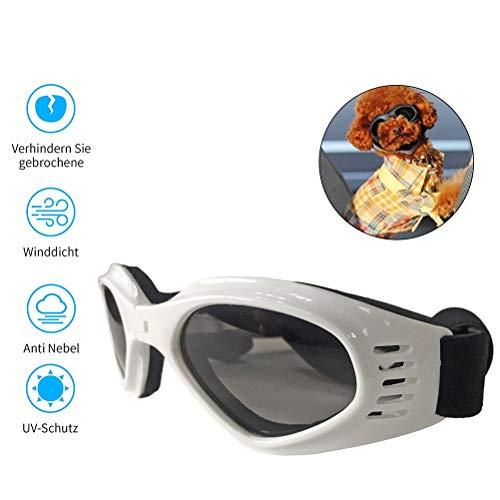 Hihey Gafas de Sol para Perros Gafas para Perros Gafas de Sol para Perros Gafas para Perros pequeños/medianos Plegable Protección Impermeable para los Ojos Protección UV Anti Niebla Ajustable