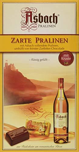 RCP Asbach Zarte Pralinen, Zartbitter-Schokolade, Mit Kruste, Flüssige Füllung, Alkoholhaltig, Tolles Geschenk, 125 g