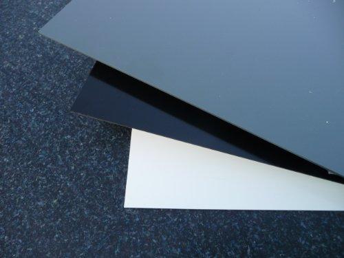 Platte aus Hart PVC, 1000 x 495 x 2 mm schwarz Zuschnitt alt-intech®