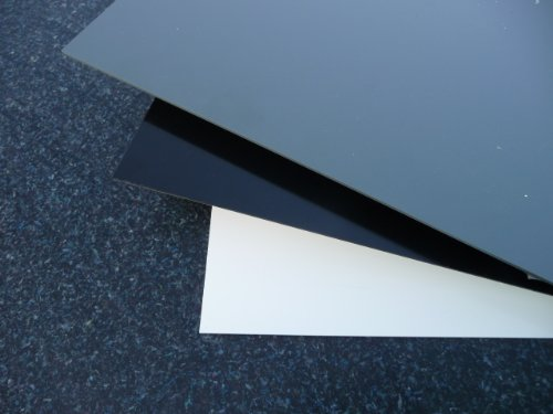 Hard PVC plaat 1000 x 495 x 2 mm Wit