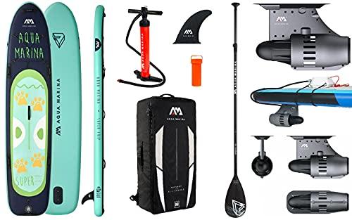 Aqua Marina Mega Sup Super Trip Inflatable Stand Up Paddle mit BlueDrive Power Motor