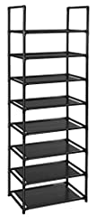 MATERIAL & STRUCTURE: Made from Durable waterproof non-woven fabric tiers , Strengthened plastic connectors and thickened iron pipes. Short design of shelf pipes are hard to bend even put larger & heavy objects, that makes this rack sturdier, stabler...