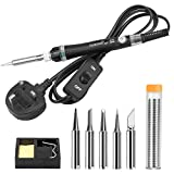 TABIGER Soldering Iron Kit with Adjustable Temperature ON/Off Switch, 60W/220V Electronics Soldering Tool