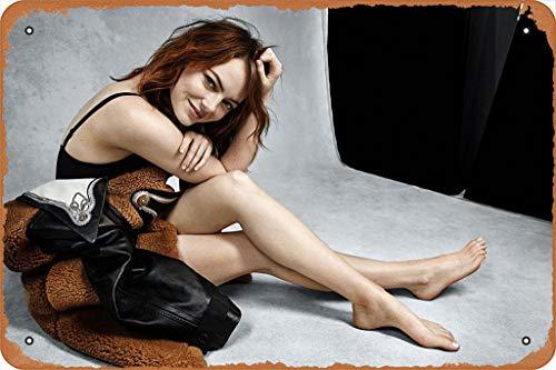 "GFFYYU Emma Stone Hot Poster 8"" x 12"" Retro Metal Tin Sign"