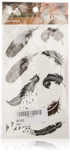 birds and feathers temporary tattoo stckers