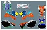 Fyjhunann Calcomanías de la Motocicleta Pegatinas Kit de gráficos Kit de calcomanías gráficas para KTM ECC 2001-2002 hnfyj (Color : 5)
