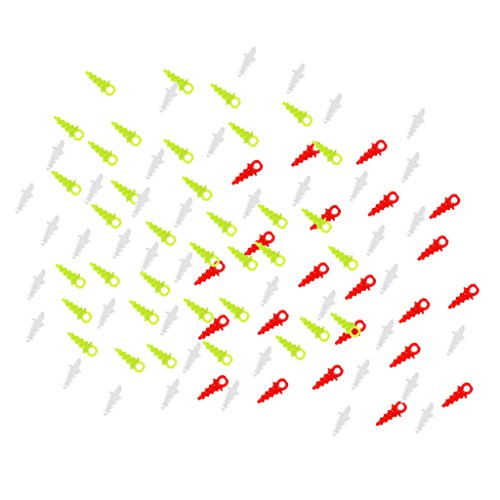 MagiDeal 200 Pieces Plastic Pop Up Bait/Screws Carp Fishing Chod Rigs Hook Connection
