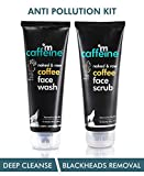 mCaffeine Coffee Anti Pollution Kit | Deep Cleanse, Blackheads Removal | Face Wash