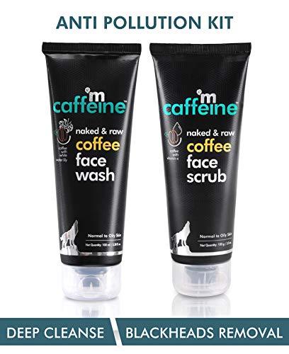 mCaffeine Coffee Anti Pollution Kit   Deep Cleanse, Blackheads Removal   Face Wash (100ml), Face Scrub(100gm)   Oily/Normal Skin   Paraben & SLS Free