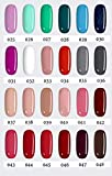 LOVECRAZY - Kit de Esmaltes de Uñas en Gel Semipermanente, 20 Colores de Esmaltes y Top C...