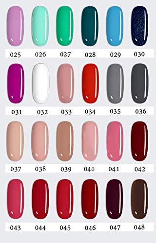 LOVECRAZY - Kit de Esmaltes de Uñas en Gel Semipermanente, 20 Colores de Esmaltes y Top Coat Base Coat