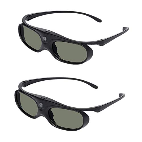 Docooler GL2100 Projector 3D Glasses Active Shutter Rechargeable DLP-Link for All 3D DLP Projectors Optama Acer BenQ ViewSonic Sharp Dell 2 Stück