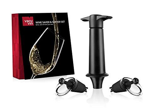 Vacu Vin Wine Server et Saver, Noir, 5 x 8.5 x 22 cm